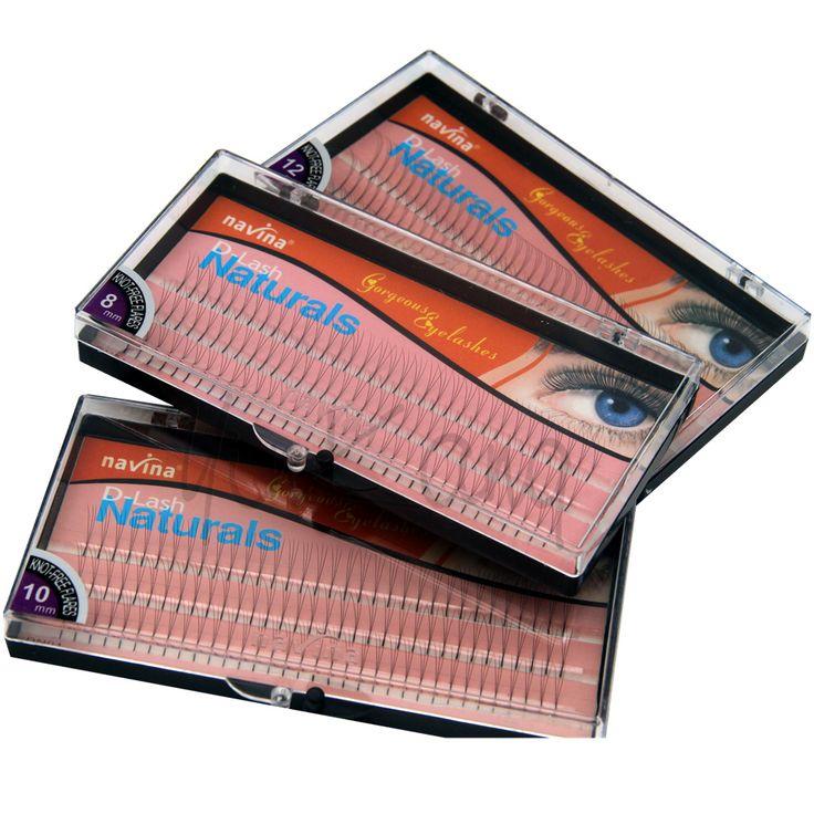 NAVINA 102 Bandes Individuelles Faux Cils D-Curl 0.12mm épaisseur 3D W Faux Cils Extension Bandes 8mm/10mm/12mm Non Noeud