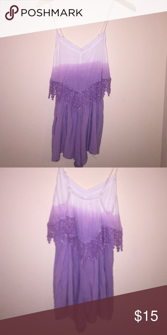 Faded white and purple dip dye romper Adjustable straps and elastic waist- Just ask! Make an offer to negotiate :) Other