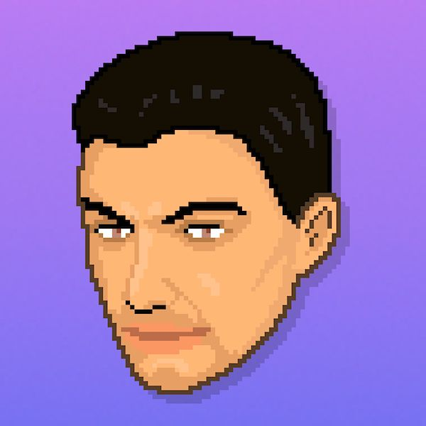 Hotline Miami style pixel avatar for Andrea Latino @andrealatino.   Find out more: https://www.fiverr.com/linuz90/make-your-hotline-miami-style-avatar