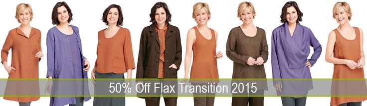 50% Off FLAX Transition 2015 Tuesday's Deal for 2-14-17...Save 50% Off #FLAXDesigns Transition 2015. #FLAX Transition combines the best of Traveler's textured neutrals and LTD's autumn colors in one great collection. FLAX Transition is perfect for layering as the seasons change. Shop Fg Clothing's Tuesday's Deal at http://www.fgclothing.co/tuesdays-deal/   #FLAXclothing #Linenclothing #Linentop #Linenpants #Linendress #linenskirt #flax #linen #flaxsale #linensale #blouse #tunic #buyflax