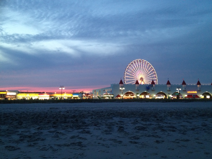 Ocean City NJ - Boardwalk. getting ready for summer. Most businesses are back up and running