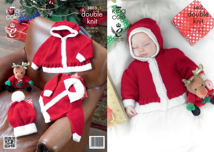 King Cole DK Knitting Pattern - 3803 Christmas Jackets & Hats: Amazon.co.uk: Baby