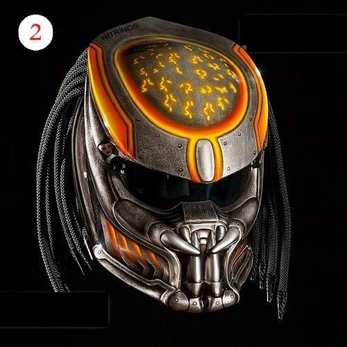 THE AMAZING PREDATOR HELMET FIGHTER STYLE DOT APPROVED #CELLOS