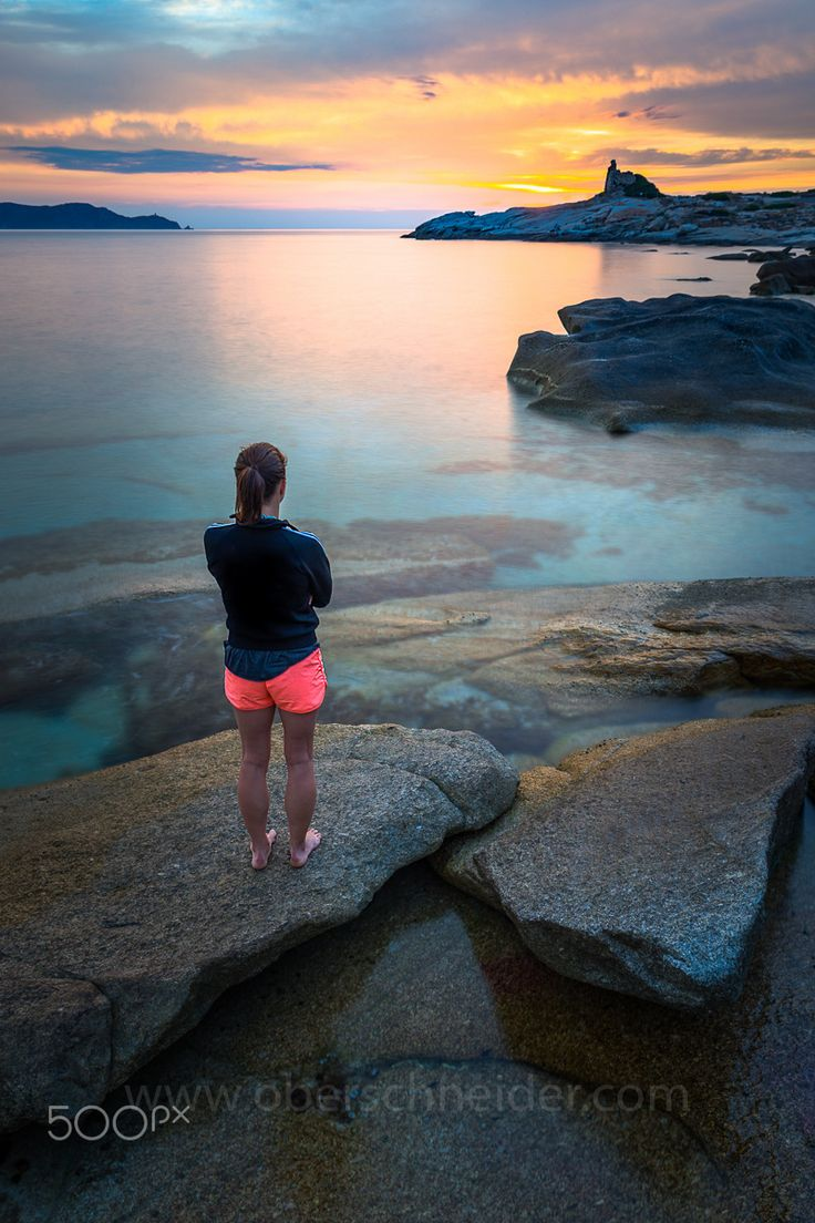 """Waiting For You - Lonely girl waiting at the beach of Corsica, France.  Image available for licensing.  See more of my work here:  <a href=""""http://www.oberschneider.com"""">oberschneider.com</a>  Facebook: <a href=""""http://www.facebook.com/Christoph.Oberschneider.Photography"""">Christoph Oberschneider Photography</a> follow me on <a href=""""http://instagram.com/coberschneider"""">Instagram</a>"""
