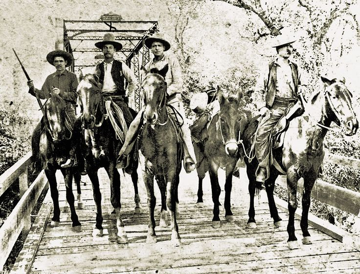 On the cusp of the 20th century, in 1892, these four Texas Rangers ride into the history books.  Courtesy Institute of Texan Cultures at University of Texas-San Antonio