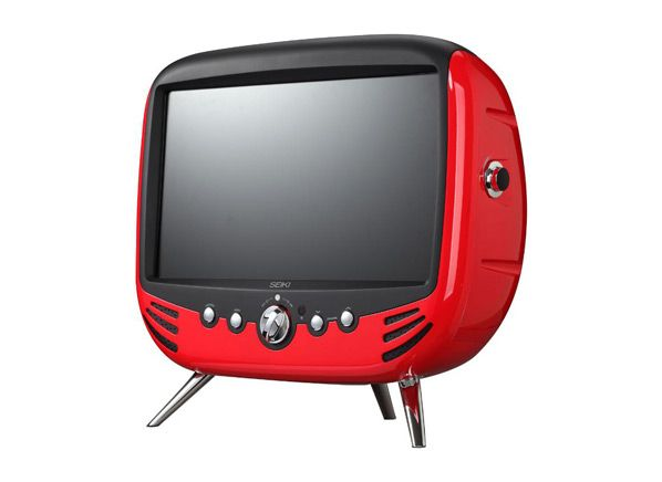Seiki Retro TV - old school look built around a 1080p LCD TV.
