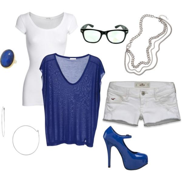Blue Summer Ocean: Blue Blue, Outfit Combos, Summer Ocean, Blue Summer, Favorite Outfit