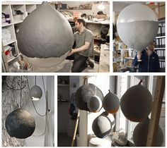 ett la benn: Using Cellulose (plant material waste) and turning it into amazing bowls, light shades etc.