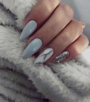 54 Wunderschönes Marmor – Acryl – Nageldesign für Herbst und Winter