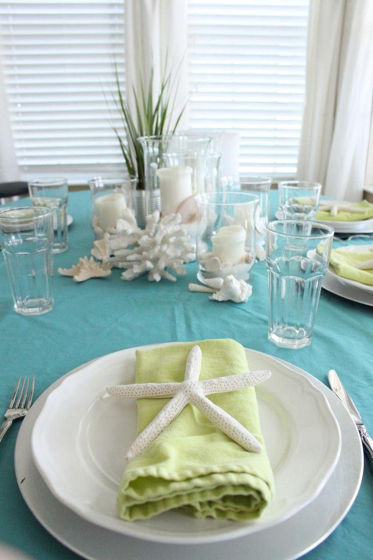A Coastal Inspired Table Www.starfishcottageblog.com