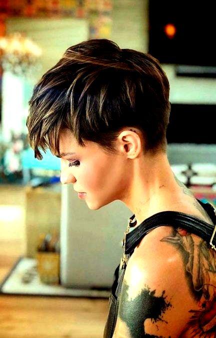 37+ Trendy Hair Color Ideas For Brunettes Pixie Cut For Women #hair