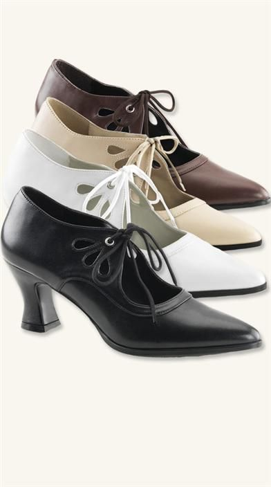 """Ruthie"" Edwardian style shoes from Victorian Trading Co."