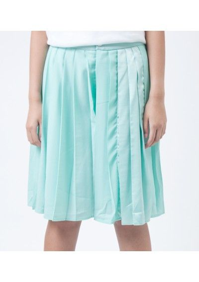 Blue Pleated Skirt #pleatedskirt #skirt #turquoise #gonna #turchese  #pastels
