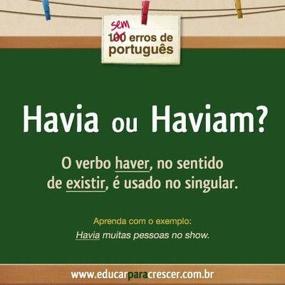 Havia ou Haviam? #portugues #dicasportugues