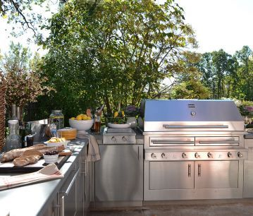 High-end Gas, Charcoal and Wood Grill