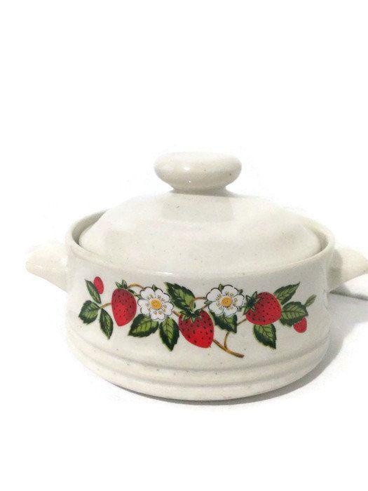 Sheffield Strawberries N' Cream Individual by vintagevennu on Etsy