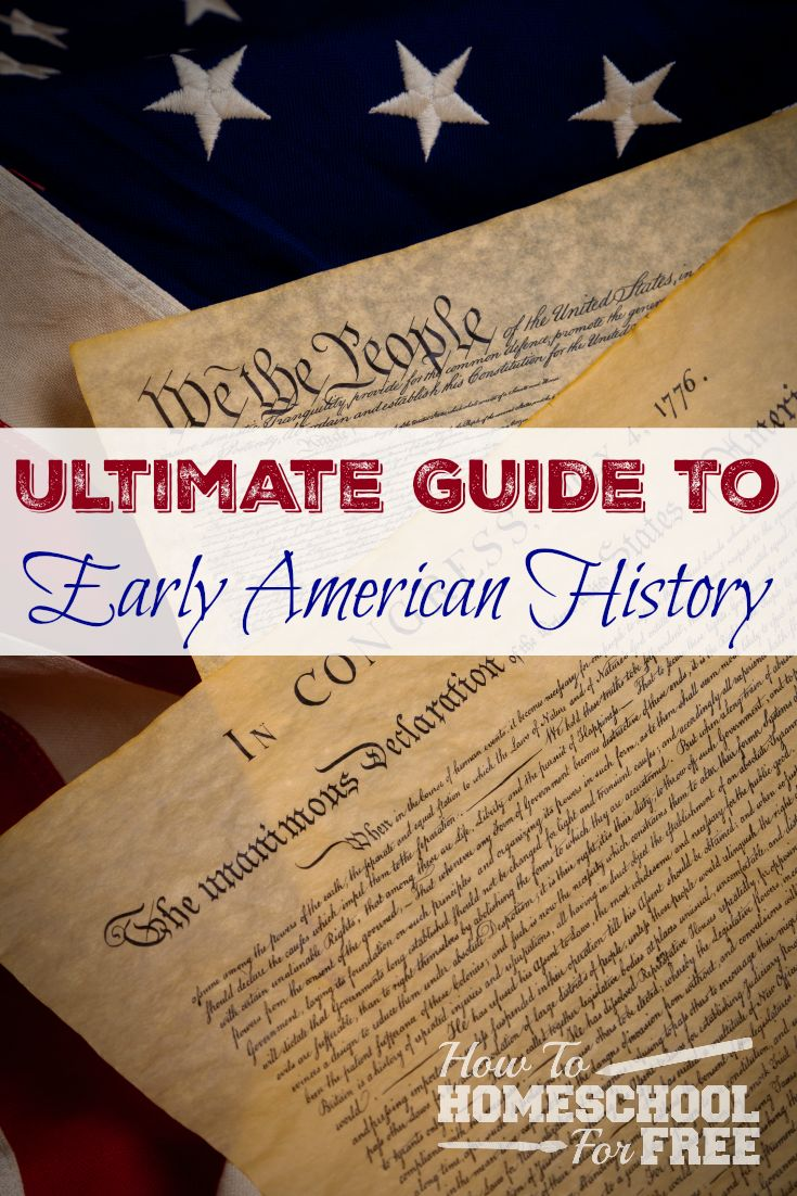 Here is a wonderful FREE resource for guiding your children through early American history! via @survivingstores