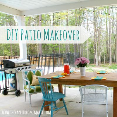 A stunning {DIY Patio Makeover} and how you can do it too!