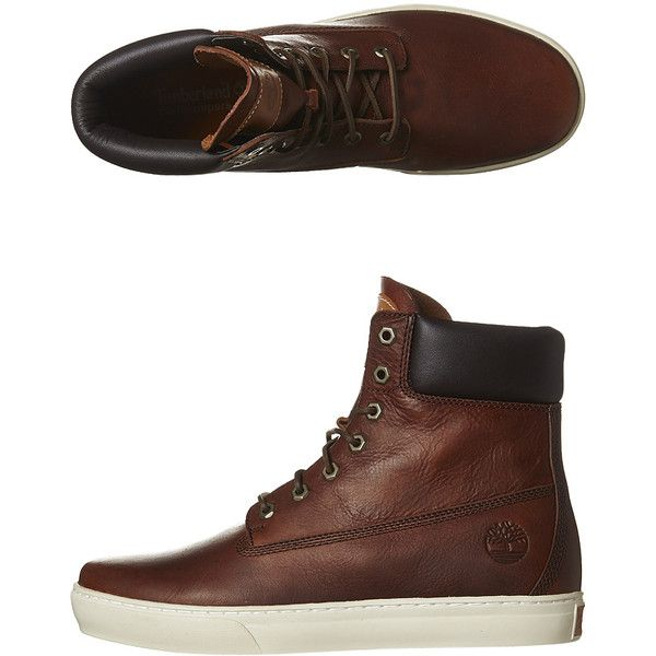 Timberland Newmarket Ii Cup Leather Boot ($125) ❤ liked on Polyvore featuring men's fashion, men's shoes, men's boots and wheat biscuit