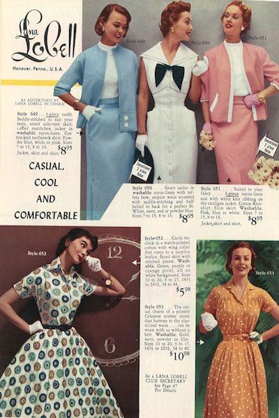 1955 Lana Lobell catalog, summer fashion