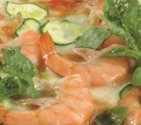 Recette Pizza crevettes et courgettes