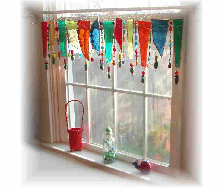 Olive my Kitchen Stained Glass Window Treatment Window Valance