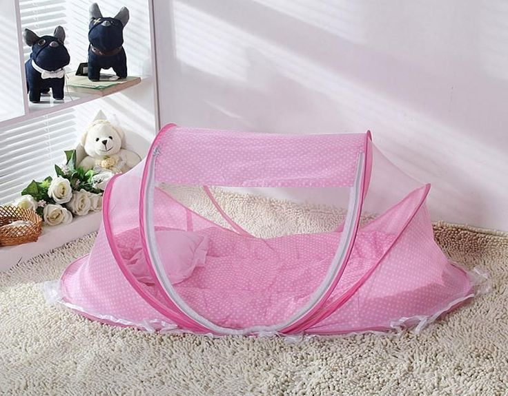 Portable Dot Canopy Infant Bed