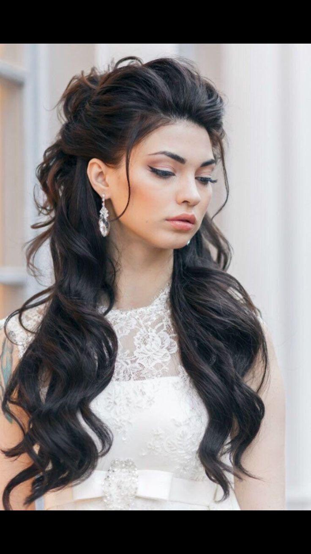 Half up half down wedding style yes | Hair styles, Long ...
