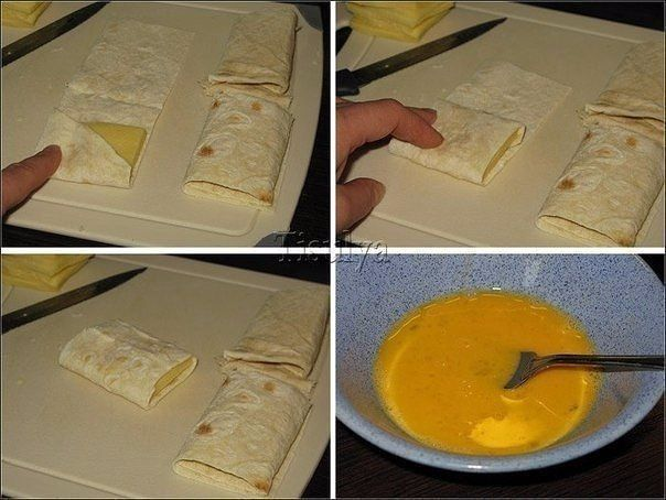 Лаваш с сыром в яйце. Завтрак за 5 минут.<br><br>Ингредиенты:<br><br>Тонкий армянский лаваш<br>Сыр (твердых сортов)<br>Яйцо<br>Соль, специи - по вкусу<br>Растительное масло (для жарки)<br><br>Способ приготовления:<br><br>1. Лаваш порезать на поперечные полоски.<br><br>2. Сыр нарезать ломтиками не..