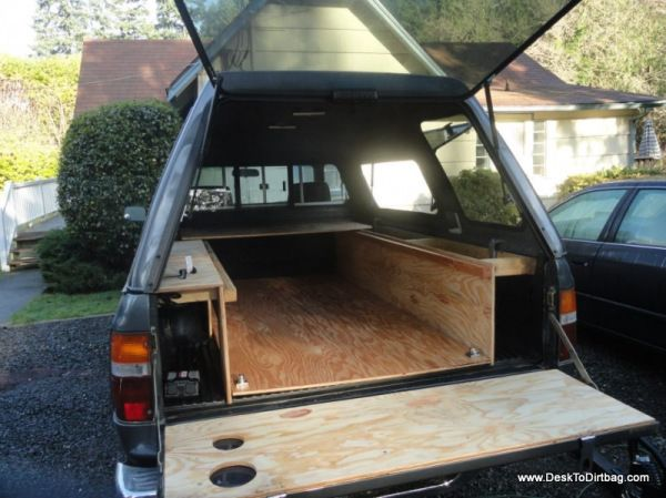 Truck Camping Outfitting And Living In The Back Of A