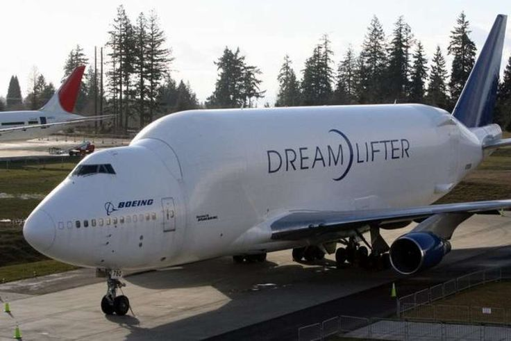 Boeing's Dreamlifter is a modified 747-400 built to move sections of the new 787 Dreamliner between production sites. Photo: Aubrey Cohen, Seattlepi.com