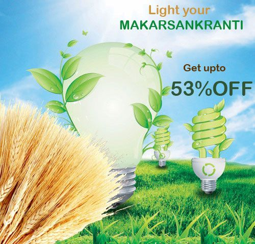 HAPPY MAKARSANKRANTI & PONGAL  Get upto 53% off on all LED Lights @ http://goo.gl/0C10hM