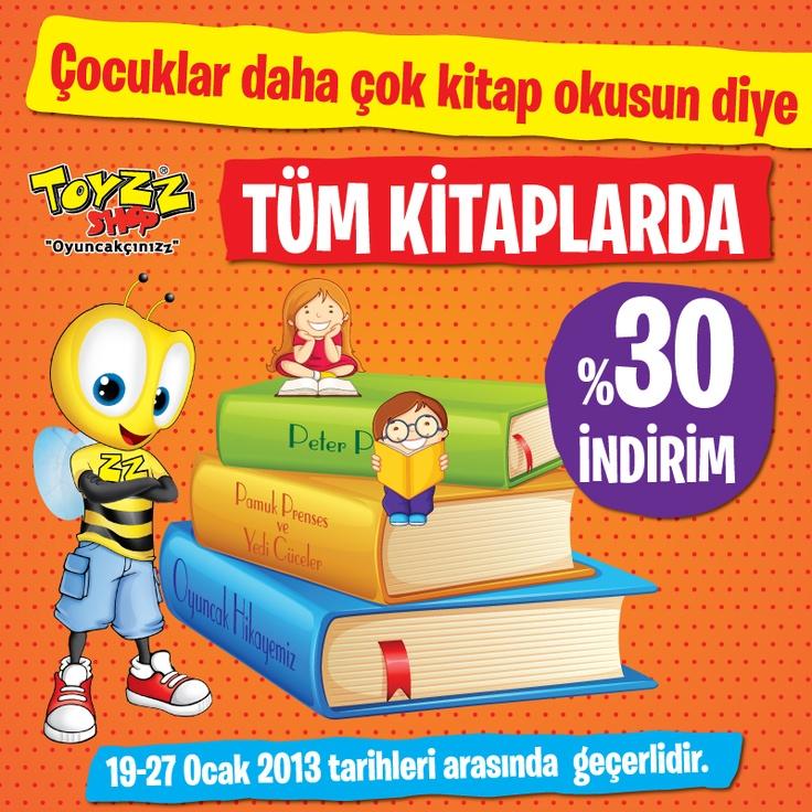 Toyzz Shop' tan Yarıyıl Tatilinde de Kitap Okumaya  Anlamlı Destek!     Yarıyıl tatilinde çocuklar daha çok kitap okusun diye 19-27 Ocak tarihleri arasında tüm kitaplarda %30 indirim Toyzz Shop'ta.