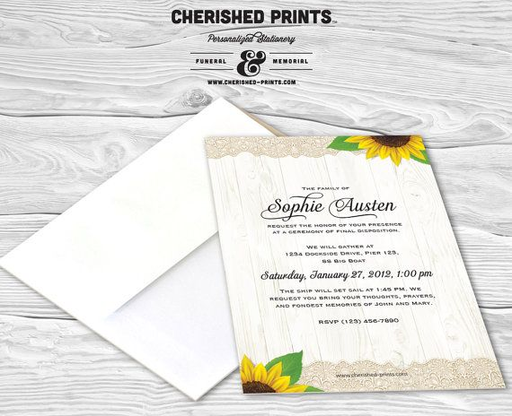 28 best Invitations, Announcements, and Mourning Cards images on - funeral reception invitation