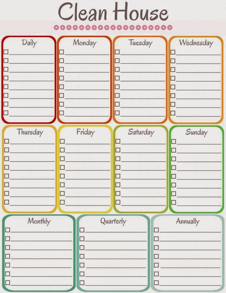 amy's notebook: 5 Printable Cleaning Schedules ...