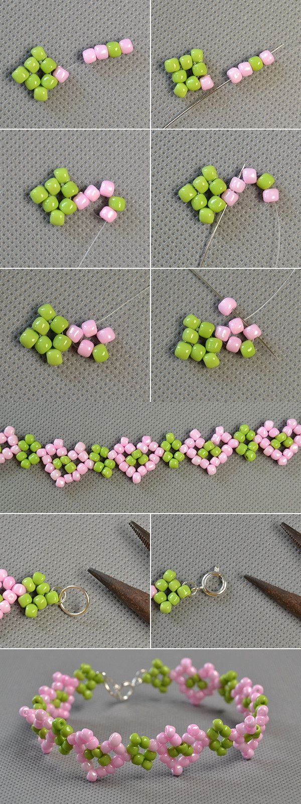 beaded heart pattern bracelet, love it? lc.pandahall.com will share us the tutorial soon.