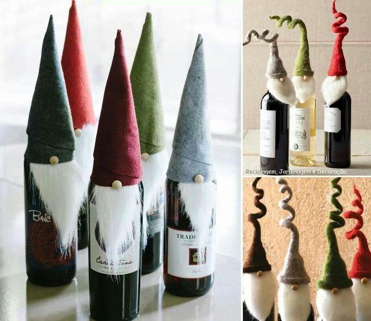 geniale idee f r flaschen d basteln pinterest flaschen weihnachten und geschenk. Black Bedroom Furniture Sets. Home Design Ideas