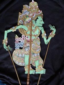 Wayang Kulit Krishna Puppet