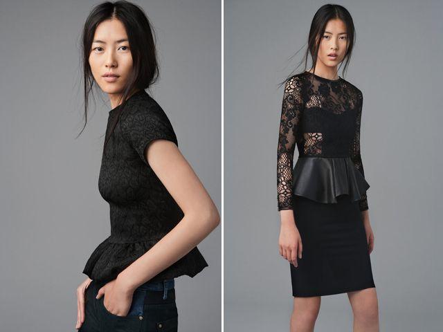 zara augustLiu Wen, Fashion, You, Style, Fall Ideas, Fall Lookbook, Fall 2012, Lace Peplum, Black Peplum