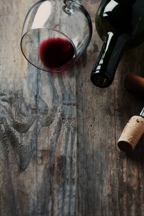 Bottle of wine, cork and corkscrew - stock photo                                                                                                                                                                                 More
