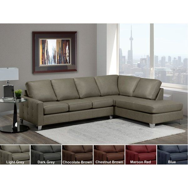 Brown Leather Tufted Sectional Sofa Tufted Sectional Sofa