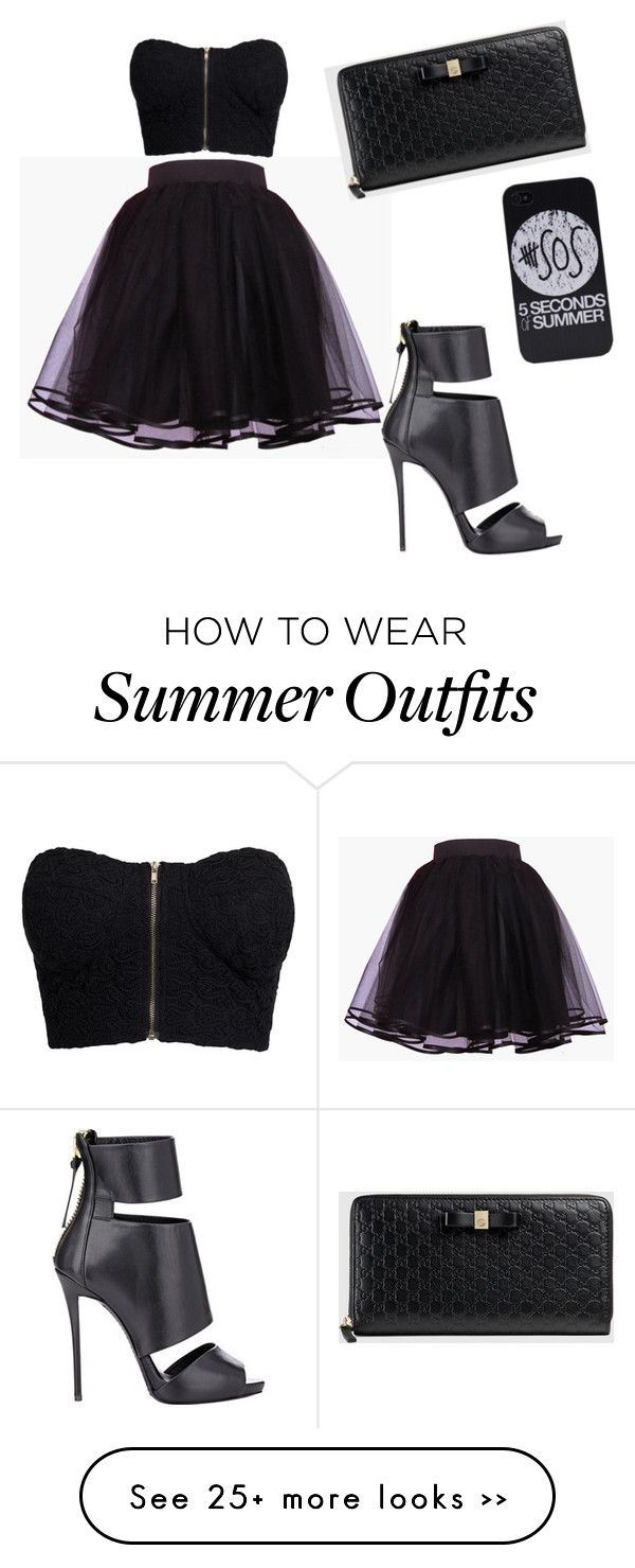 """""""My First Polyvore Outfit"""" by lemanatrishamae on Polyvore featuring NLY Trend, Giuseppe Zanotti and Gucci"""