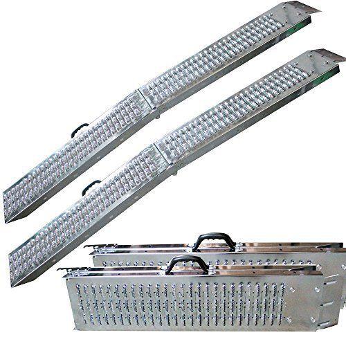 AREBOS 2x Rampe Pliable max. 600 kg Rampe de Chargement Rampe Rail Collision: Rampe pliable de max. 300 kg Rampe d'accès Rampe de…