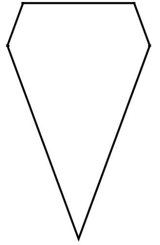 Pennant with fold line View Full-Size
