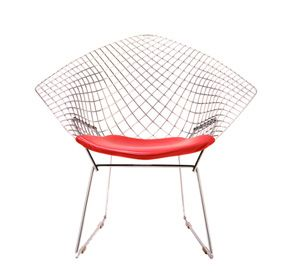 Bertoia Small Diamond Chair by Harry Bertoia (1952) from Knoll: Harry Bertoia, Chairs, Diamonds, Furniture, Design