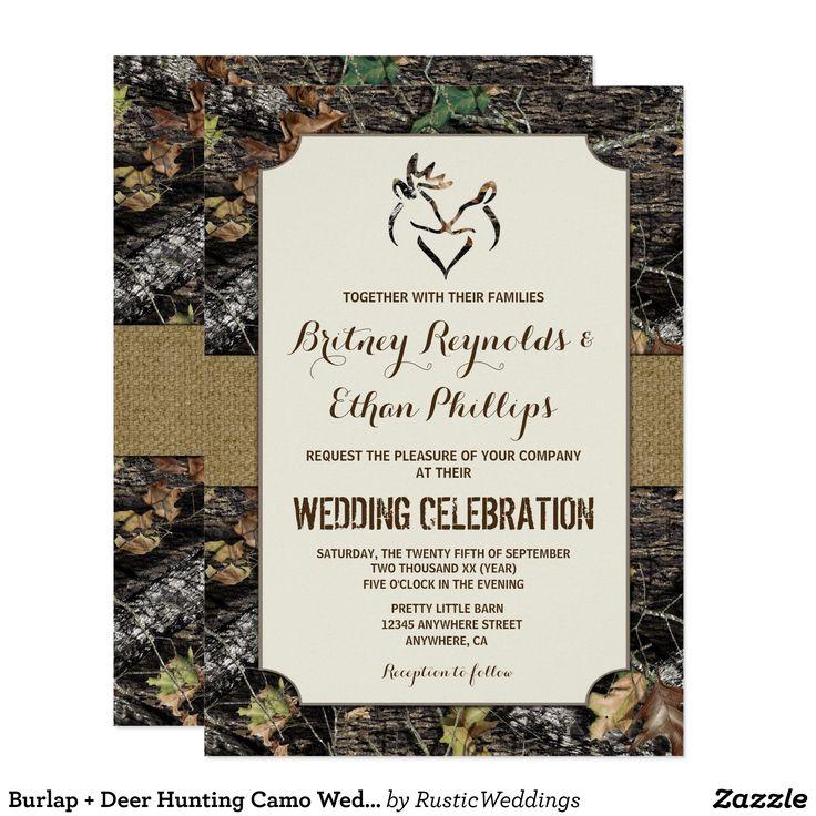 Best 25 Camo Wedding Invitations Ideas On Pinterest Redneck