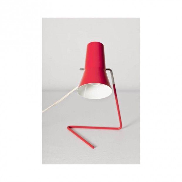 Lampka stołowa marki Drupol (mod. 21616) z lat '60, z charakterystycznym wygiętym ramieniem. #vintage #vintagefinds #vintageshop #forsale #design #midcentury #midcenturymodern #drupol #brusel #hurka #lamp