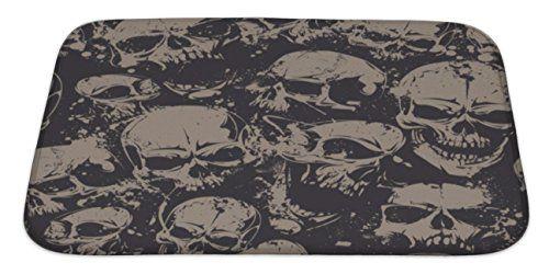 Bathroom Rugs Ideas | Gear New Grunge Skulls Bath Mat Microfiber Foam With  Non Skid Backing