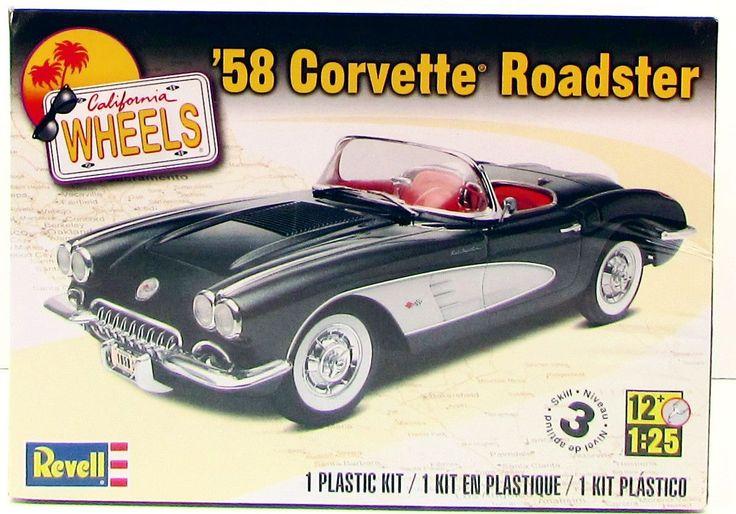 Revell Monogram '58 Corvette Roadster Plastic Model Kit 1/25 85-4325