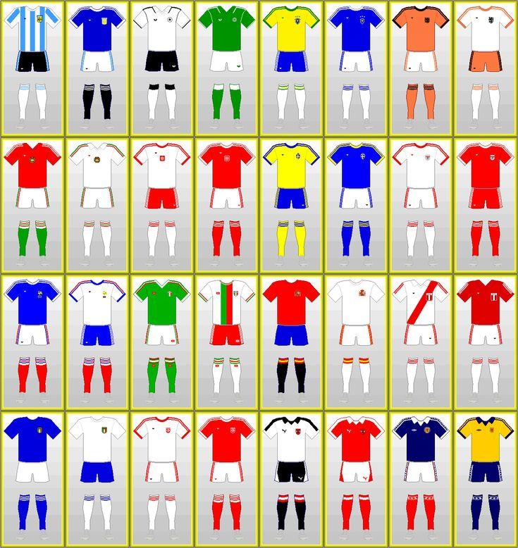 Uniformes Copa Mundial de Futbol: ARGENTINA 1978